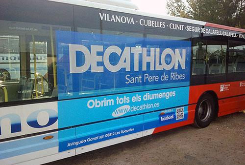 Publicitat Autobus Decathlon