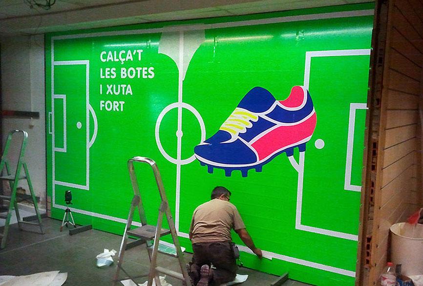Retolació Paret Botiga Intersport